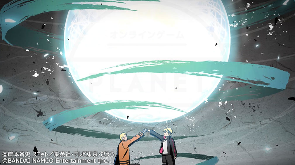 NARUTO X BORUTO 忍者TRIBES(ナルト×ボルト ニンジャトライブス) 連係攻撃『ボルト×ナルト(七代目火影)』スクリーンショット