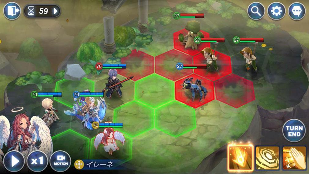 キングダム オブ ヒーロー Kingdom of Hero(キンヒロ) 『ヘキサマップ』バトルスクリーンショット
