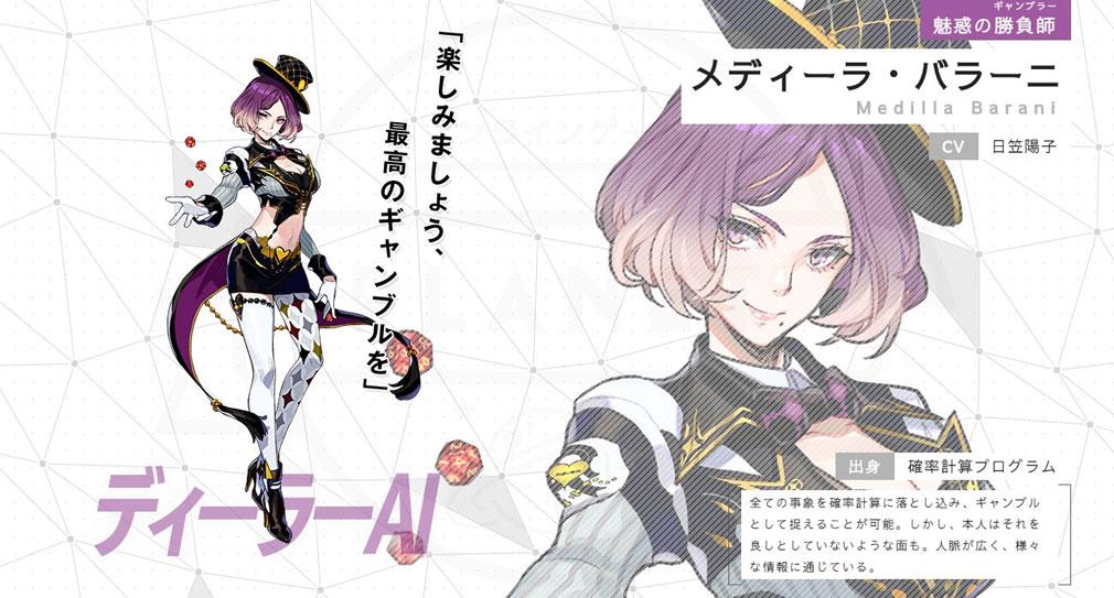 ゼノンザード(ZENONZARD) 超高性能AIコードマンキャラクター『メディーラ・バラーニ』紹介イメージ