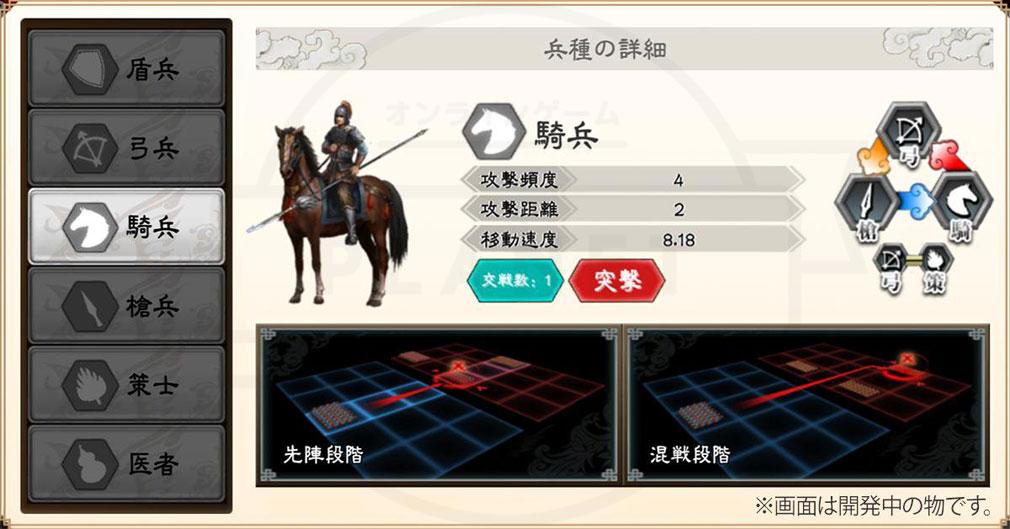 三国志大戦M 兵種『騎兵』詳細スクリーンショット