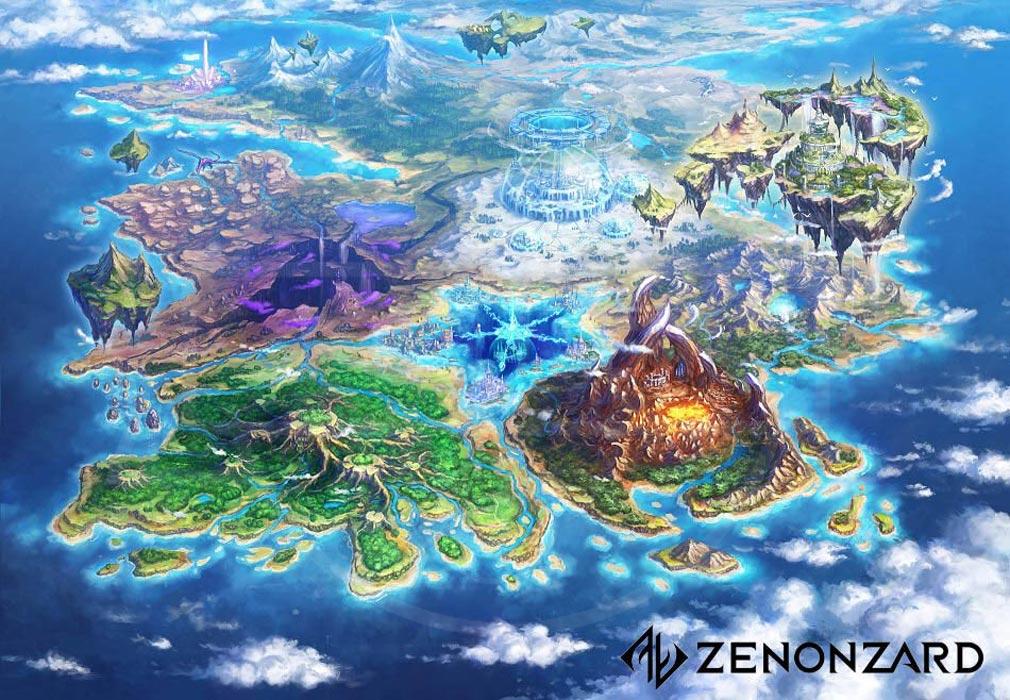 ゼノンザード(ZENONZARD) ワールドマップ紹介イメージ