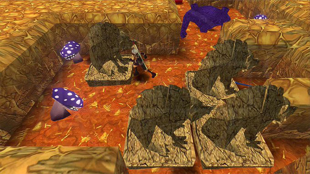 クレサマルス物語 『ソロモンの御手』で石像を動かすスクリーンショット