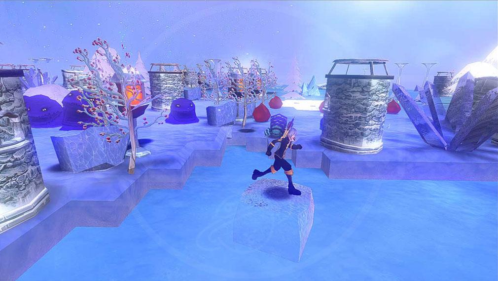 クレサマルス物語 『ソロモンの冷気』で水面を進むスクリーンショット