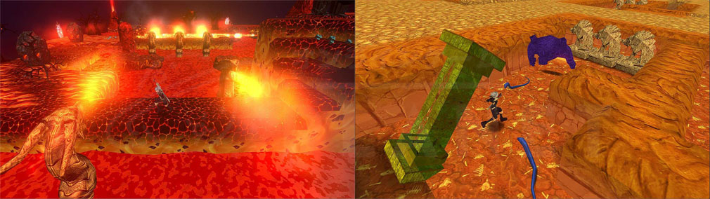 クレサマルス物語 噴き出す炎、倒れる柱のマップスクリーンショット