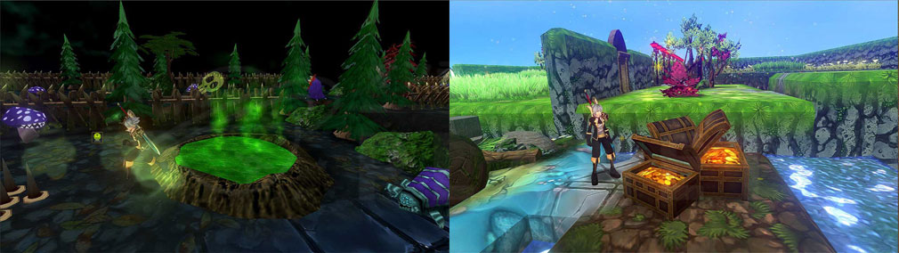 クレサマルス物語 毒の沼地、隠された宝のマップスクリーンショット