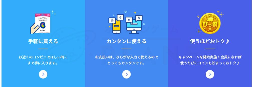 『BitCash』サービス概要スクリーンショット