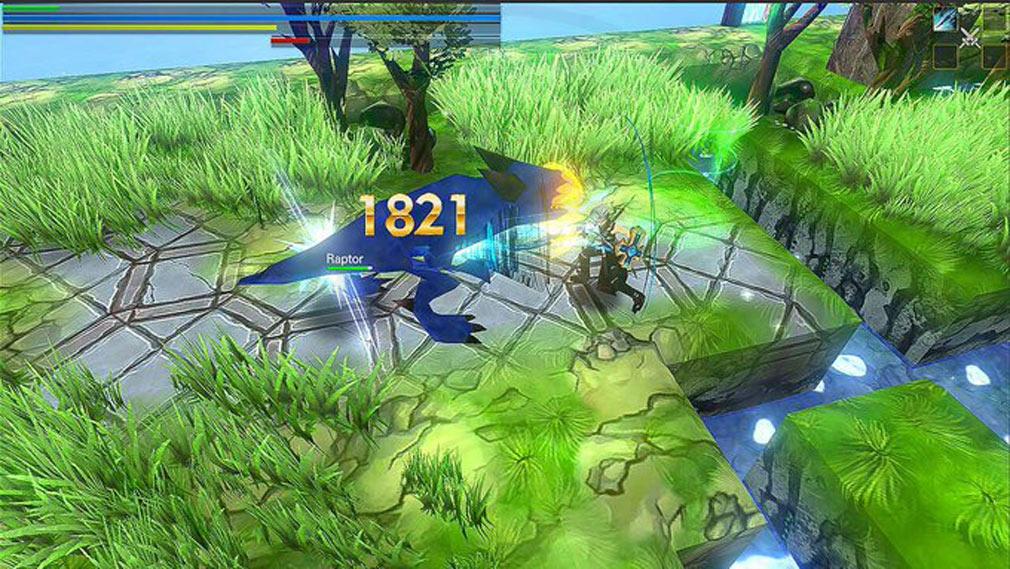 クレサマルス物語 右スクリーンをタップしたままホールドで起こる『袈裟斬り→突き攻撃のコンボ』スクリーンショット