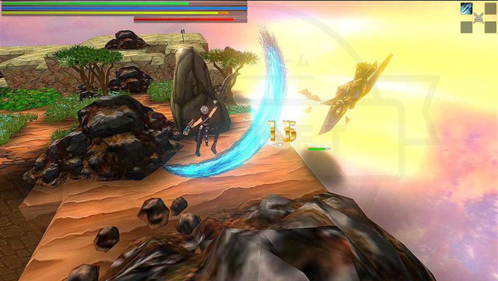 クレサマルス物語 敵を高く浮かせるアクションスクリーンショット