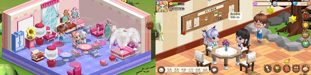 ファンタジーファーム ようせい島のボクとキミ 可愛くデコった『マイルーム』、他プレイヤーとおしゃべりできる『ギルドルーム』スクリーンショット