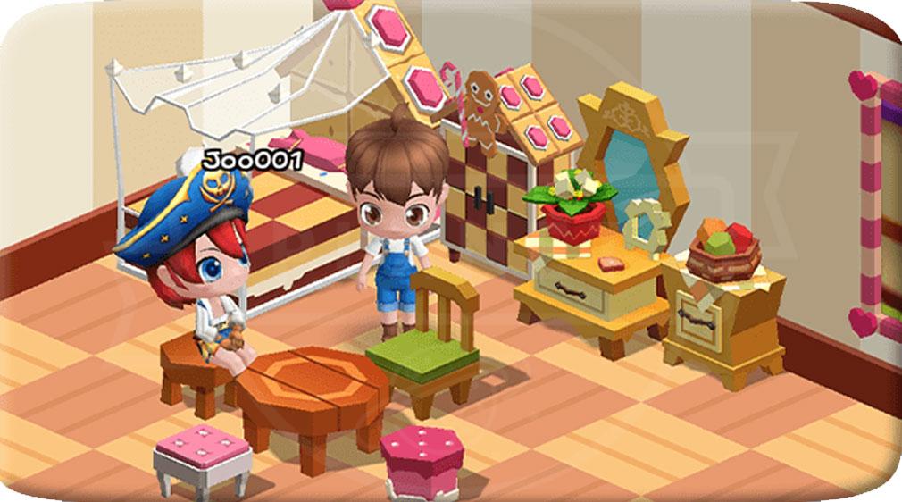 ファンタジーファーム ようせい島のボクとキミ 他プレイヤーを招待できる『マイルーム』スクリーンショット