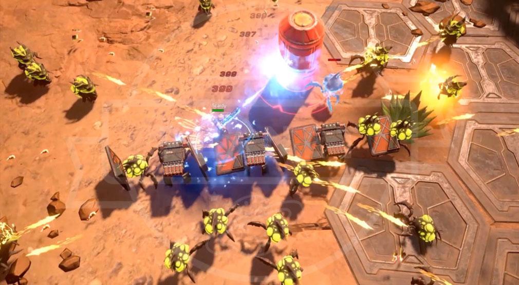 Gigantic X(ギガンティックX) DPS No.1 のスカーディによるライフル攻撃で敵を一掃するスクリーンショット