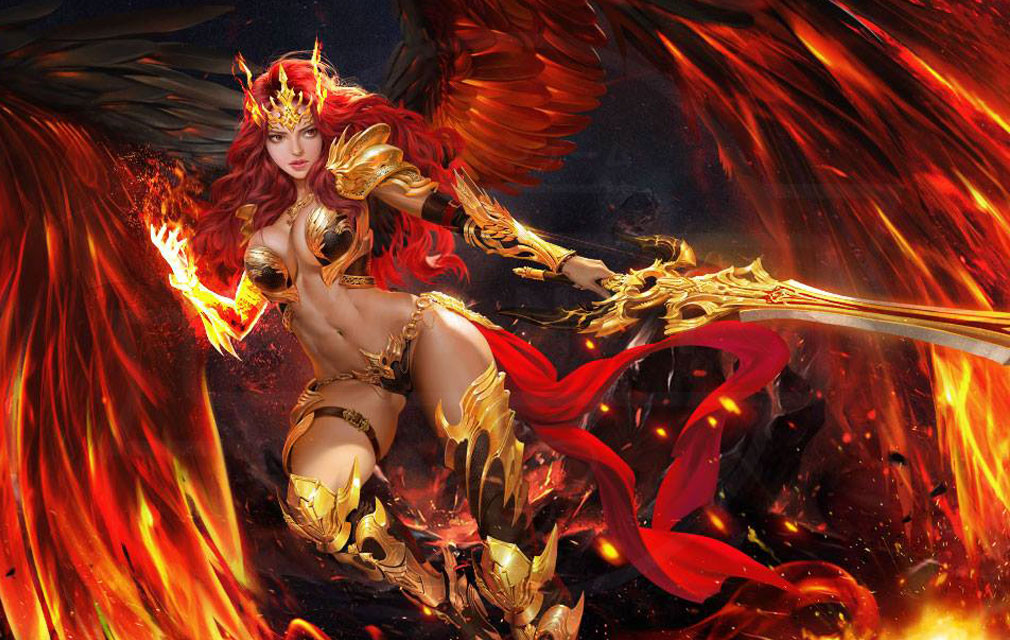League of Angels3 リーグ オブ エンジェルズ3(LoA3) 英雄キャラクター『ミカエラ(Mikaela)』紹介イメージ