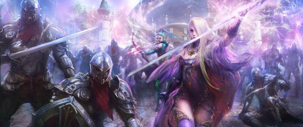ETERNAL(エターナル) 戦士の雄叫が響きわたる戦場に女性がふたりいるコンセプトアート紹介イメージ