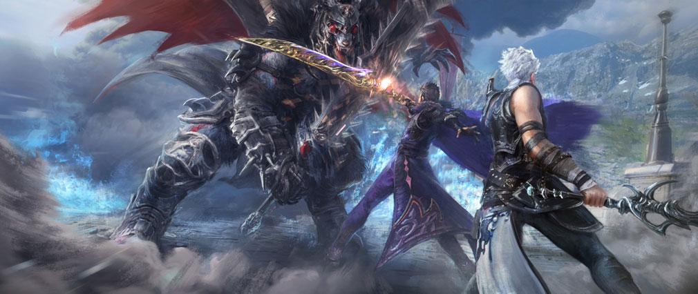 ETERNAL(エターナル) 人狼族『ガルフィン』と対峙するふたりの騎士コンセプトアート紹介イメージ