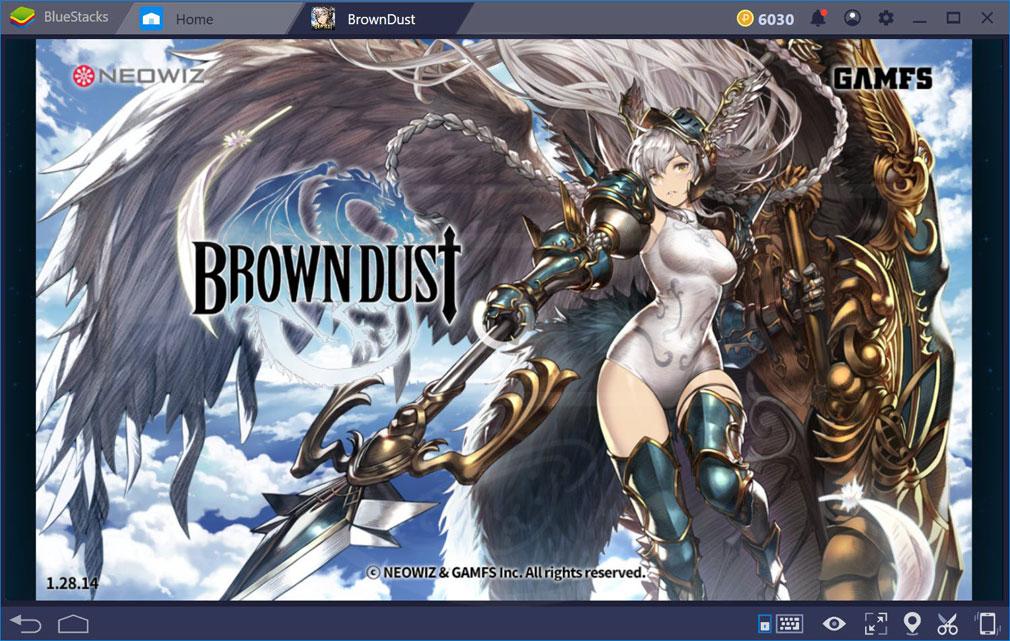 ブラウンダスト(Brown Dust) PC版スタート画面スクリーンショット