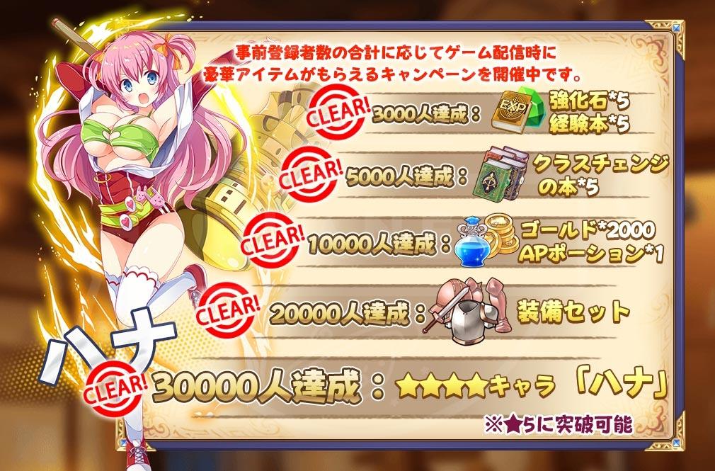 なな姫 戦乙女と守護の騎士 事前登録特典紹介イメージ