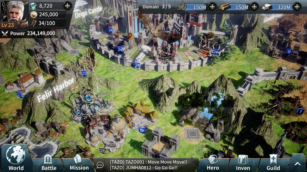 LAST KINGS(ラストキングス) PC版『領地』スクリーンショット