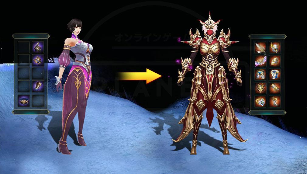 レガシーオブデスティニー(Legacy of Destiny)LOD 装備で見た目が変更されるスクリーンショット