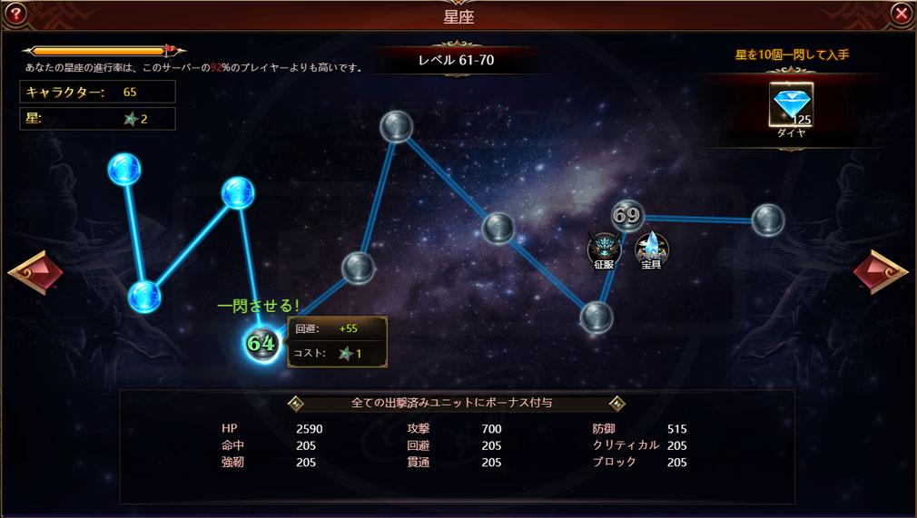 League of Angels3 リーグ オブ エンジェルズ3(LoA3)日本 星を遣って強化する『星座』スクリーンショット