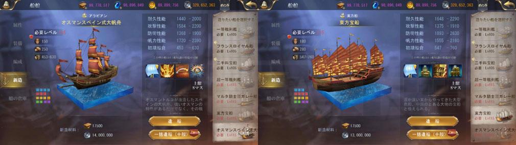大航海ユートピア(大トピ) 『オスマンスペイン式大帆舟』、『東方宝船』スクリーンショット