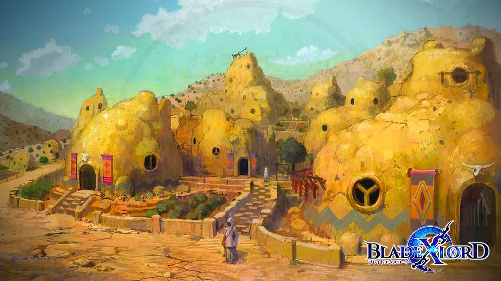 ブレイドエクスロード(ブレスロ) 地下の大空洞に作られたノータム族の都市紹介イメージ