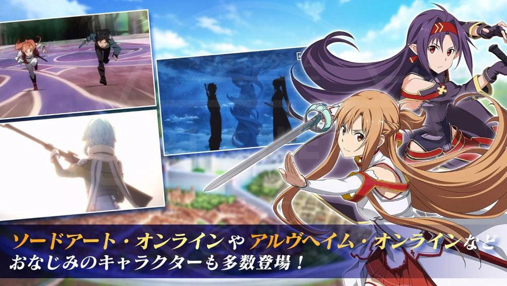 SAO アリブレ(ソードアート・オンライン アリシゼーション・ブレイディング) 『SAO』シリーズに登場したお馴染みのキャラクター紹介イメージ