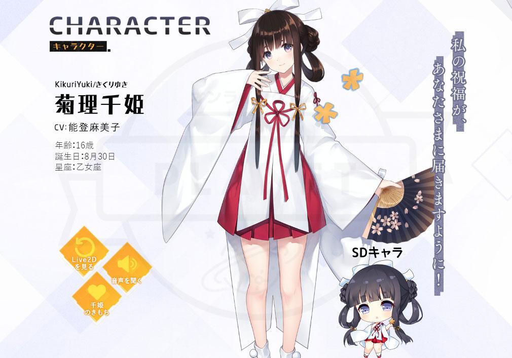 ガールカフェガン(ガルカフェ) キャラクター『菊池千姫』紹介イメージ