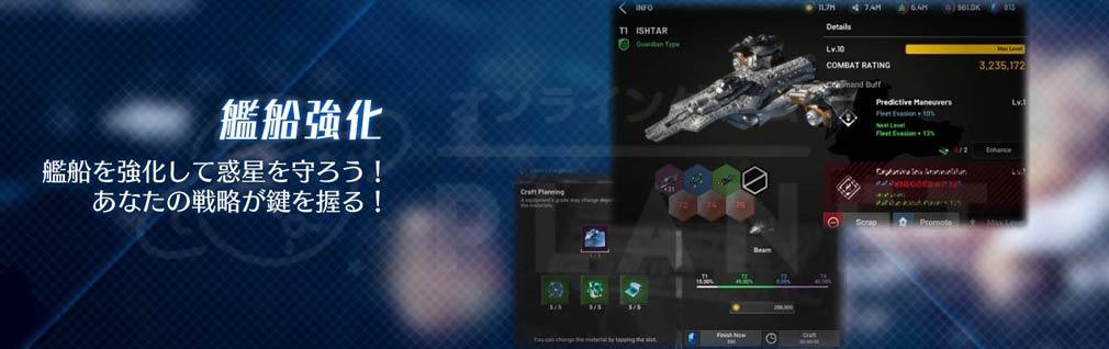 アストロキングス 艦船強化紹介イメージ