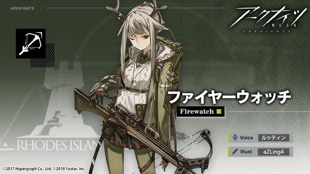 アークナイツ(ARKNIGHTS) キャラクター『ファイヤーウォッチ』紹介イメージ