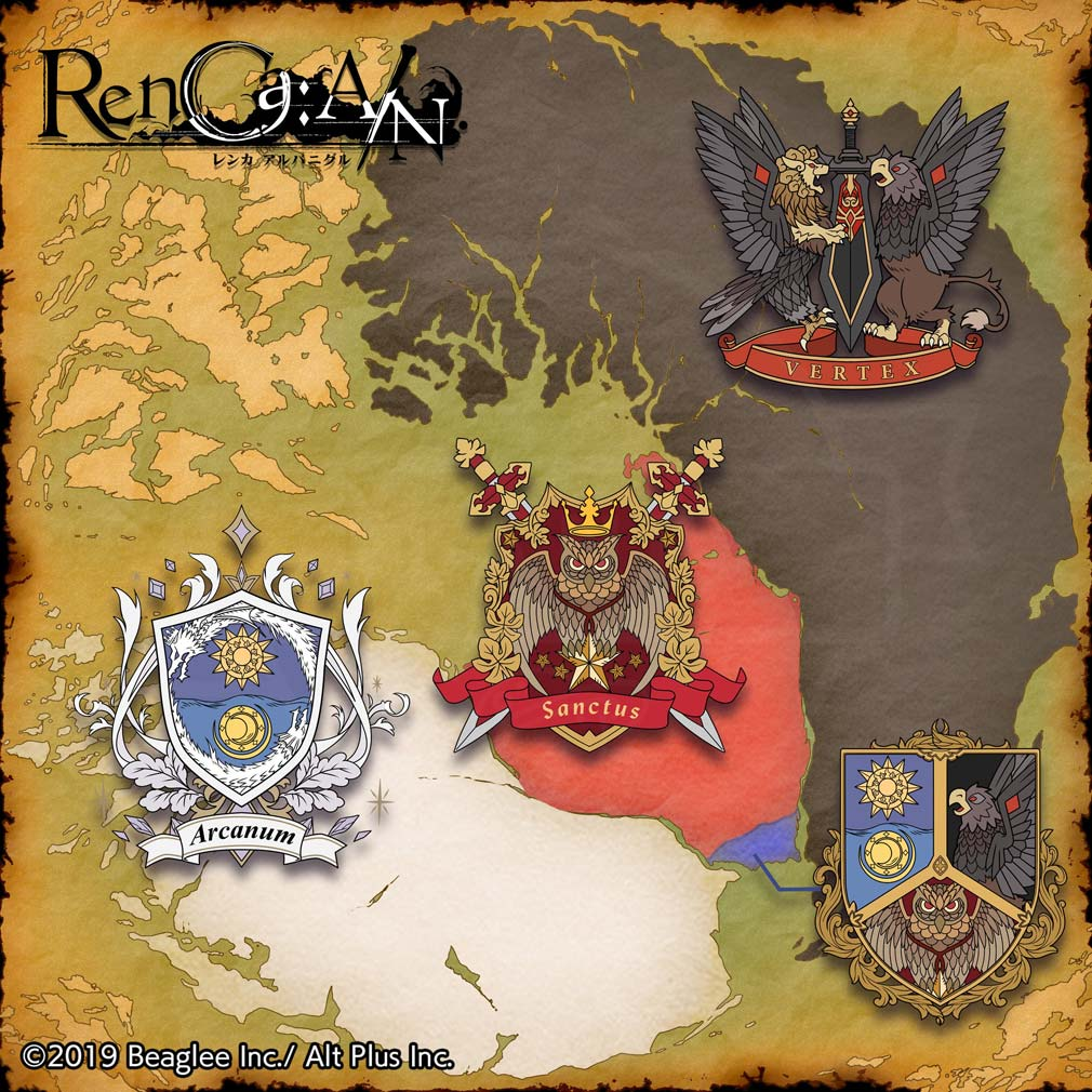 RenCa A/N(レンカ アルバニグル)レンカAN 3つの国『アーケナム』『ヴェルテクス』『サンクトス』紹介イメージ