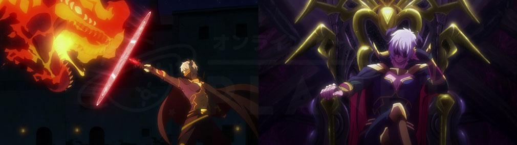 原作『異世界魔王と召喚少女の奴隷魔術』絶対的な強さを持つ魔王『ディアヴロ』として突き進むシーンイメージ
