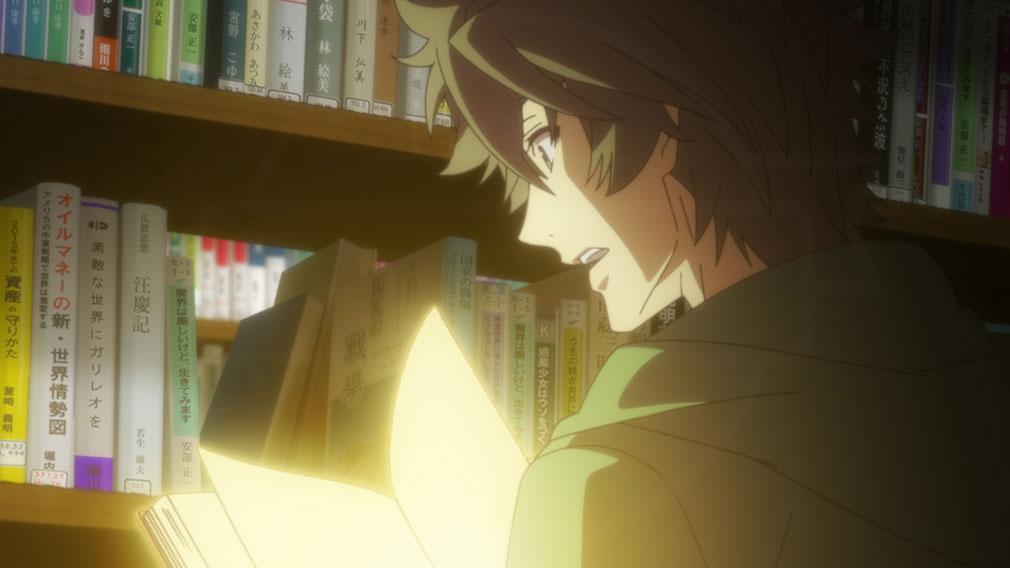 アニメ『盾の勇者の成り上がり』 図書館で出会った1冊の本のシーン紹介イメージ