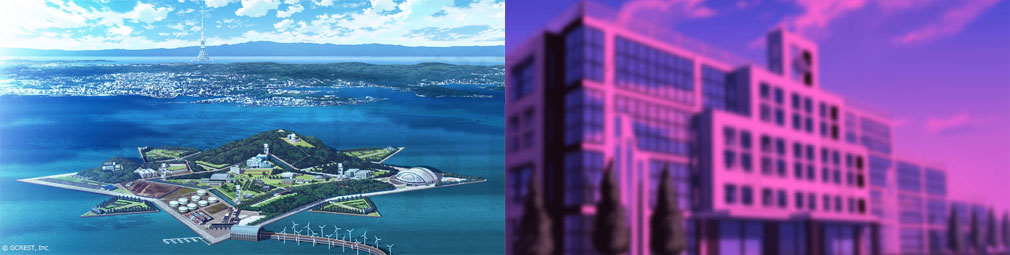星鳴エコーズ(星エコ) 東京湾に浮かぶ星型人工島にある『星鳴学園』紹介イメージ