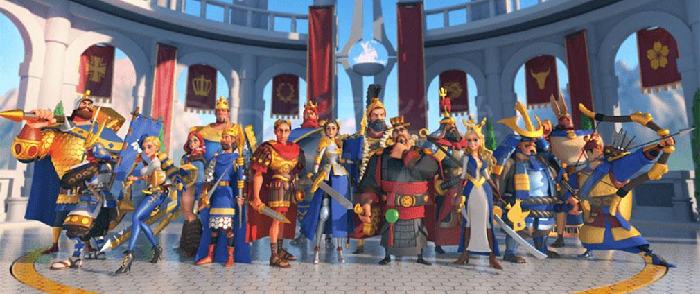 Rise of Kingdoms 万国覚醒(ライズオブキングダム)RoK ライキン 世界中の超有名武将や伝説の英雄紹介イメージ