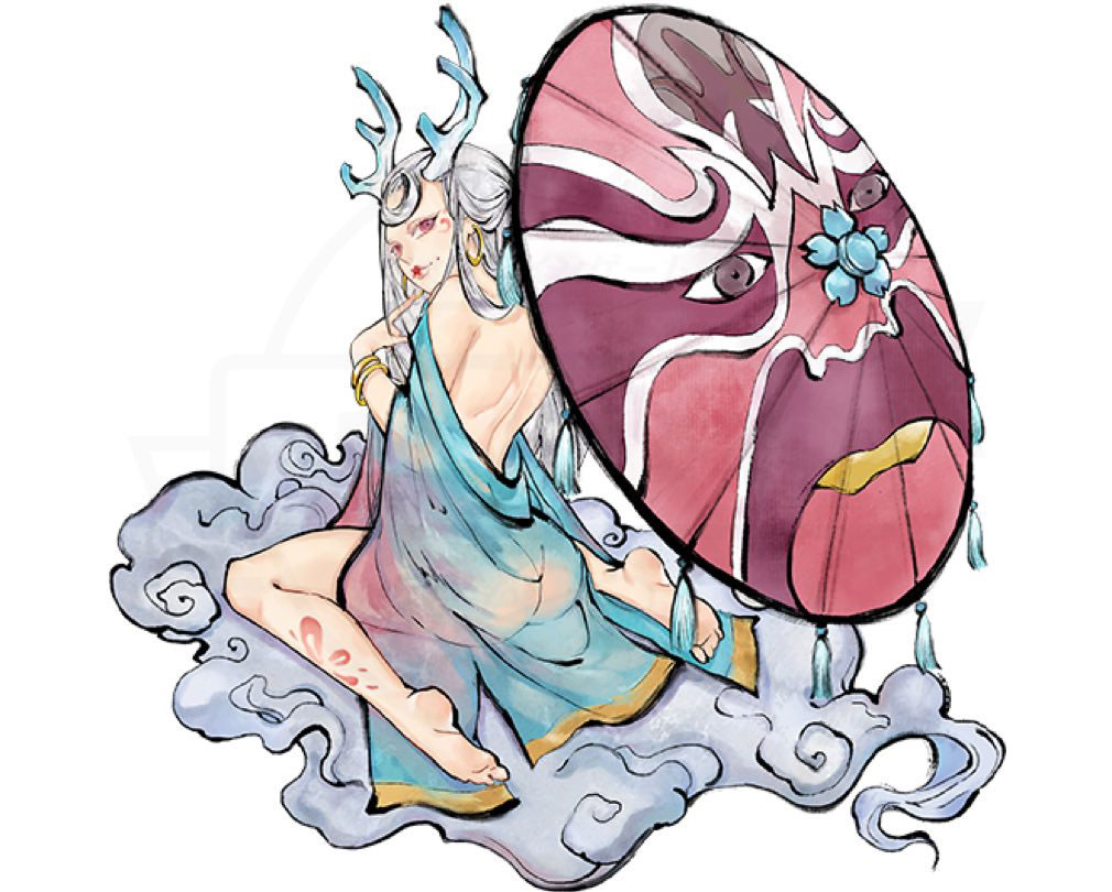 妖怪正伝 もののけ山海経(さんかいきょう) 妖怪キャラクター『青衣姫(あおいひめ)』紹介イメージ