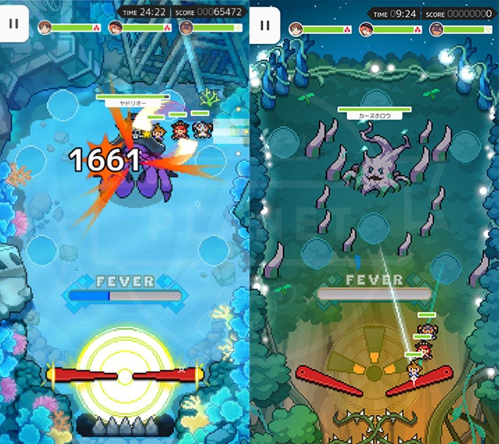 ワールドフリッパー(ワーフリ) キャラを弾いて敵に攻撃していくピンボールバトルスクリーンショット