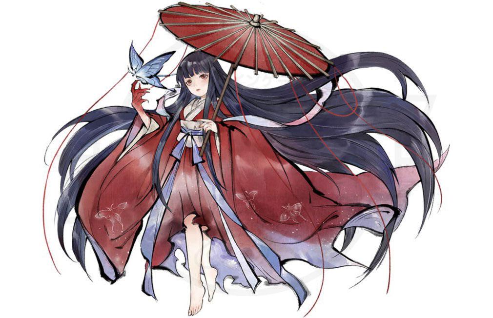妖怪正伝 もののけ山海経(さんかいきょう) 妖怪キャラクター『紅衣の少女(こういのしょうじょ)』紹介イメージ