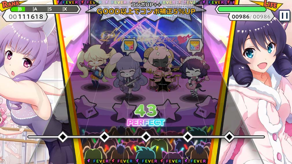 SHOW BY ROCK!! Fes A Live(ショバフェス) リズムパートスクリーンショット