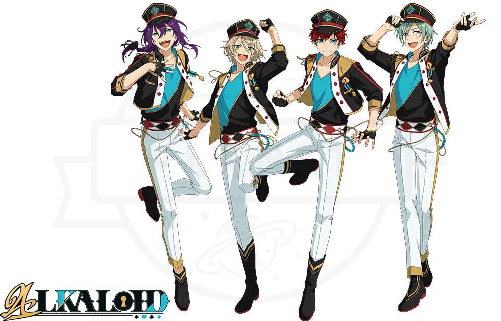あんさんぶるスターズ!!Music (あんスタMusic) ユニット『ALKALOID(アルカロイド)』紹介イメージ
