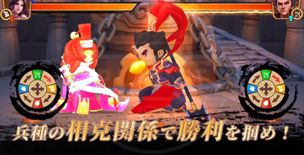 防衛三国志 ぷちかわ武将と戦略バトル 相克関係紹介イメージ