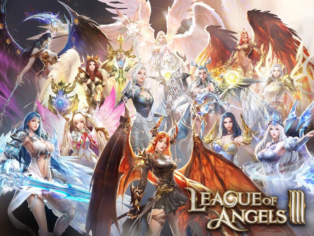 League of Angels3 リーグ オブ エンジェルズ3(LoA3) 女神集合紹介イメージ