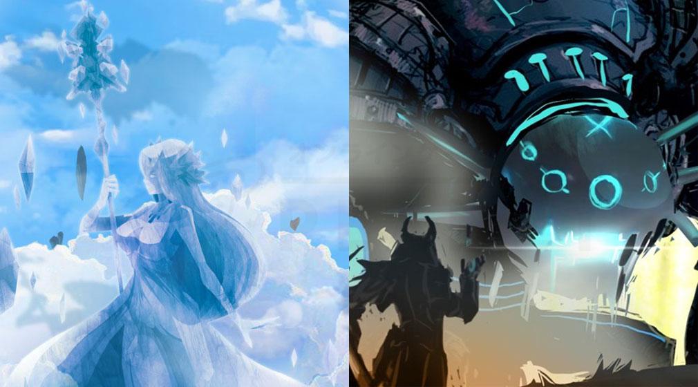 ロストストーンズ 女神の輝石(ロススト) 創造主の末裔である女神『AYA』、『テルス/Tellus』世界観紹介イメージ