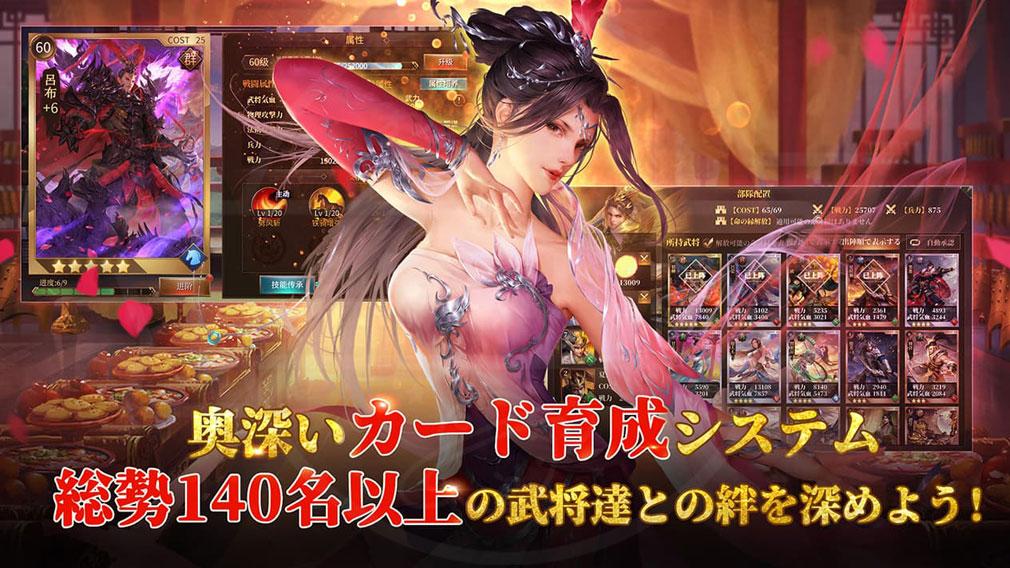 豪炎三国志 覇王の無双乱戦 カード育成紹介イメージ