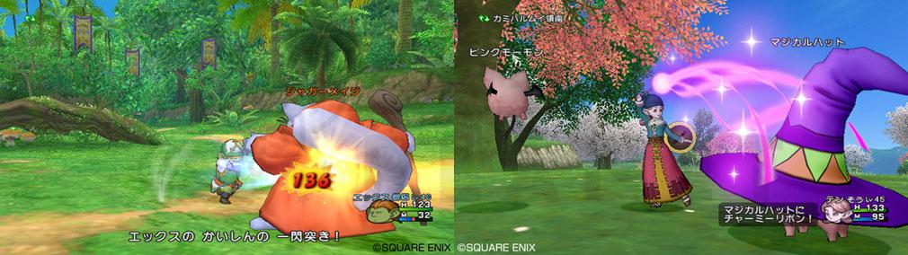 ドラゴンクエストX オンライン(DQX DQ10 ドラクエX ドラクエ10) 職業『僧侶』バトルスクリーンショット