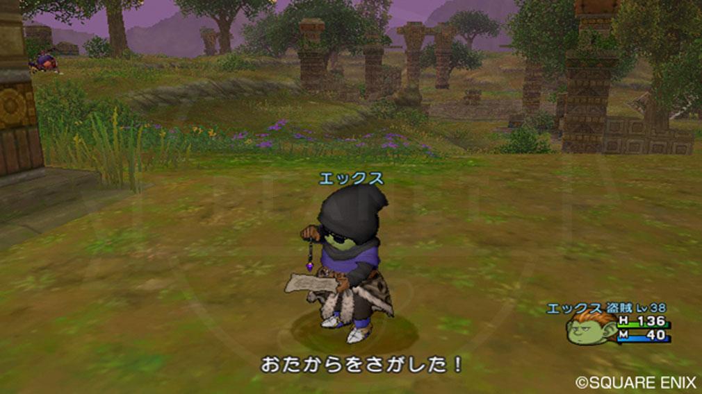 ドラゴンクエストX オンライン(DQX DQ10 ドラクエX ドラクエ10) 職業『盗賊』お宝を探しスクリーンショット