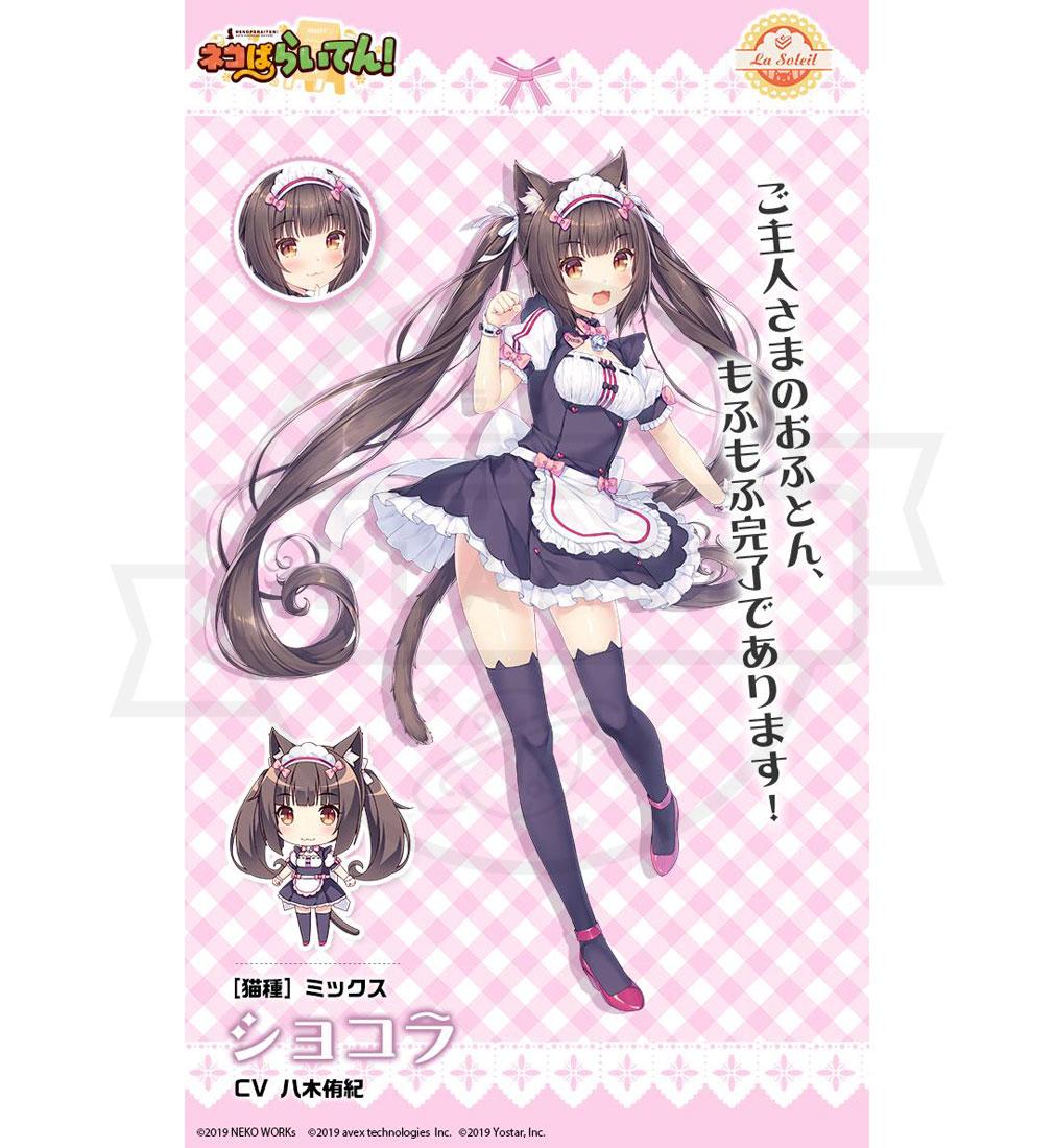ネコぱらいてん! 擬人化ネコキャラクター『ショコラ』紹介イメージ