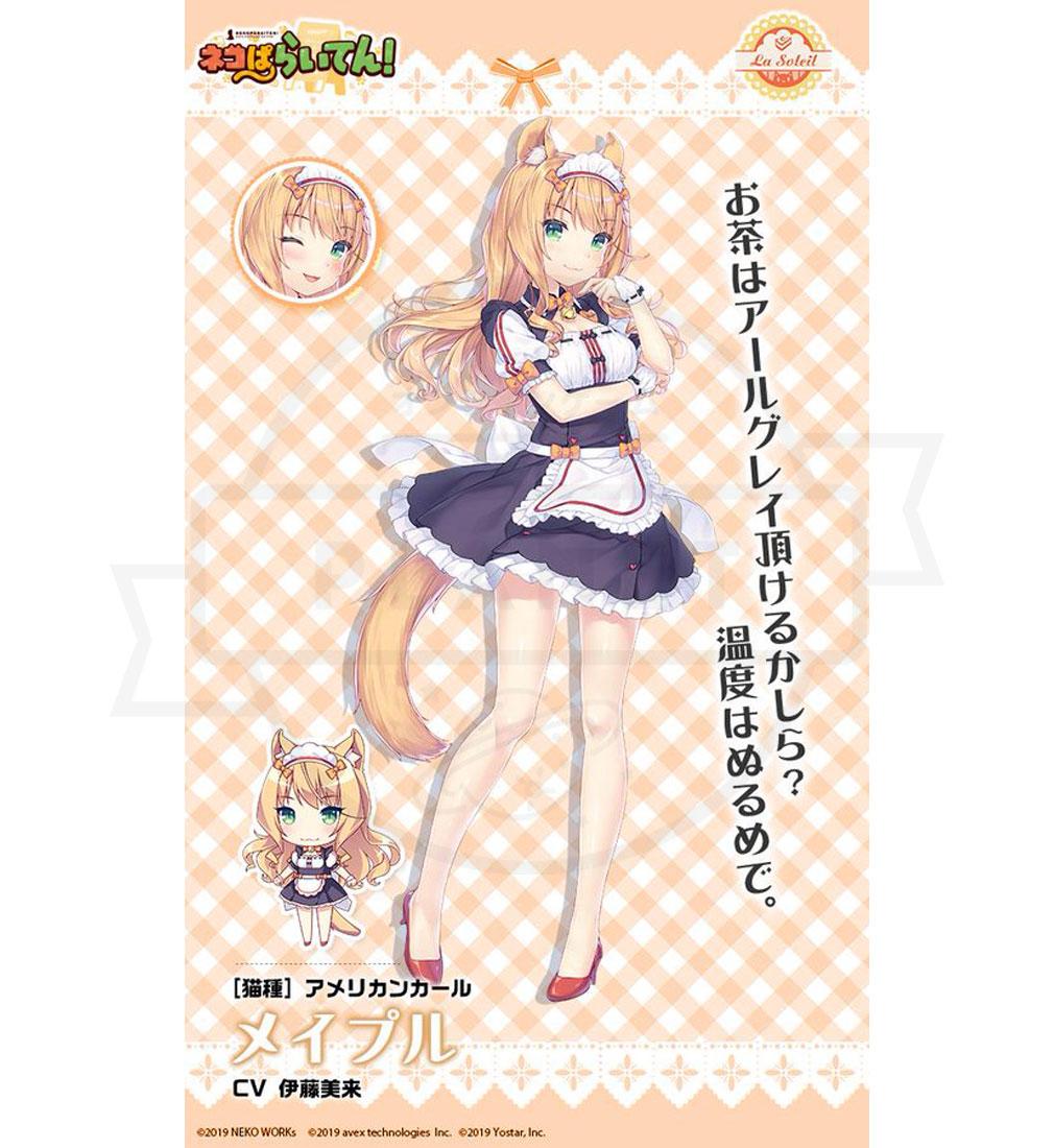 ネコぱらいてん! 擬人化ネコキャラクター『メイプル』紹介イメージ