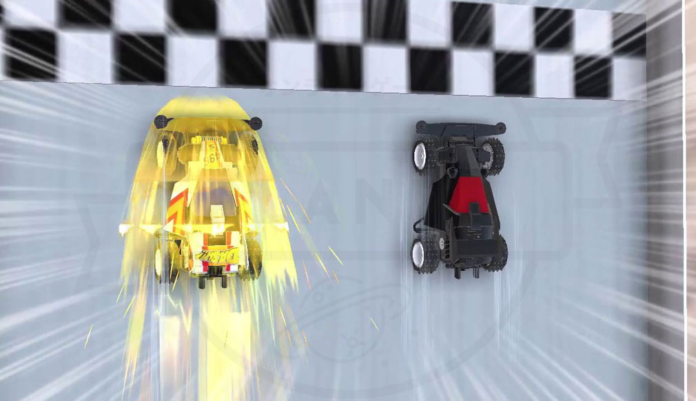 ミニ四駆 超速グランプリ(超速GP) 接戦するレース紹介イメージ