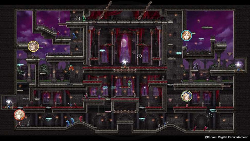 悪魔城ドラキュラ Grimoire of Souls(ドラキュラGoS) 広大な悪魔城を攻略していくマルチプレイモードスクリーンショット