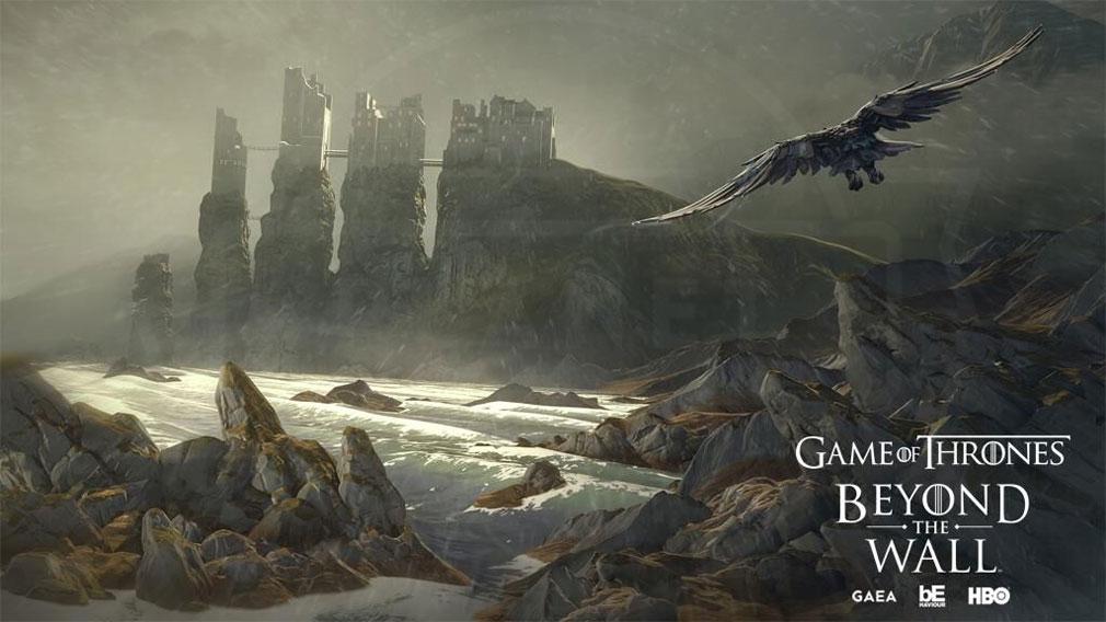ゲームオブスローンズ Beyond the Wall 世界各地に使い鴉を飛ばす紹介イメージ